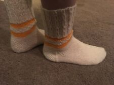 **Hand knitted woolly socks, size 5-6**