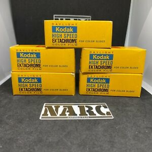 5x Kodak Ektachrome High Speed Professional 120 Film expired film