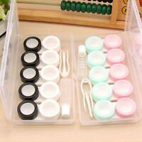Portable Plastic Contact Lens Travel Storage Holder Container Case Kit 6x/Set Y2