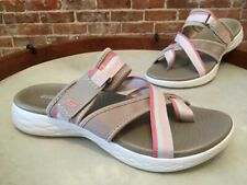 Skechers Tan Pink On-The-Go Toe Loop Summit Sport Slide Sandal 7 New Sale