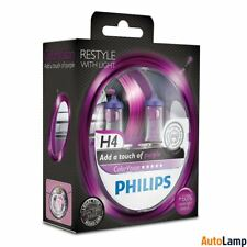 PHILIPS H4 ColorVision Purple Headlight Bulb 12V 60/55W P43t-38 12342CVPPS2 Twin