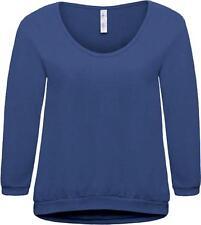 No Pattern 3/4 Sleeve Cotton Waist Length Women's Tops & Shirts