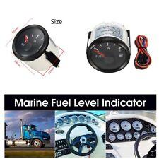 Universal 12/24V 52mm Fuel Level Gauge Boat Fuel Tank Level Gauge 240-33 ohms