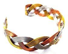 Brass Copper Oxidized Cuff Bracelet Charms Kada Wristlet Band Bangle Jewelry 49