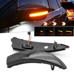 R+L Dynamic LED Side Wing Mirror Indicator Light Turn Signal For Ford Fiesta MK7