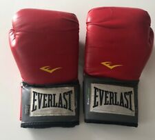 Everlast Boxing Gloves EverFresh 14oz RED & GREY Used Condition Indoor Fitness