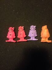 "rare 1987 Fred Flintstone Fruity Pebbles vintage 1.75"" Lot of 4, 3 Barney 1 Fred"