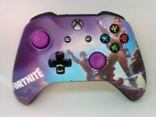 Custom Xbox One Controller 'Fortnite' w/ purple thumbsticks (Matte Finish)