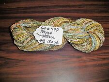 Rayon Space Dyed Chenille Yarn 600 ypp 1 Skein 4oz.150 yards  Color Tidepool.