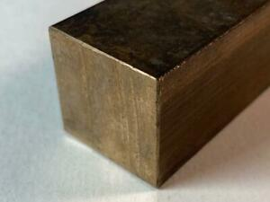 """Brass Bar 1"""" Square x 12"""" Long for Live Steam Machinists Knife Makers Watchmaker"""