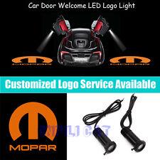 2 Orange MOPAR Logo Car Door Welcome Projector LED Light for Chrysler Dodge Jeep