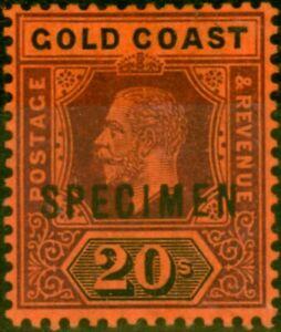 Gold Coast 1913 20s Purple & Black-Red Specimen SG84s V.F Lightly Mtd Mint