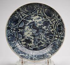 Antico Ming cinese zhangzhou Phoenix bird piatto 16TH C.