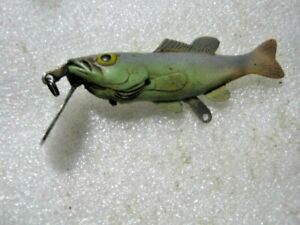 Rare Old Vintage Fred Arbogast Lil-Bass Hard Rubber  Lure Lures