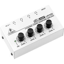 Stereo Headphone Amplifier 4 Channel Amp Studio Stage Independent Monitor Mixing