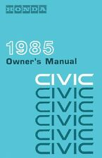 1985 Honda Civic Owners Manual User Guide Reference Operator Book Fuses Fluids
