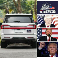 10Pcs Donald Trump President 2020 All Aboard The Trump Stickers DIY Decor PVC