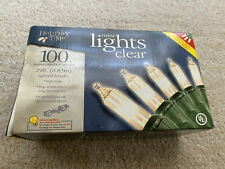 Holiday Time 100 Count Clear Mini Light Set—Green Wire 29 Ft