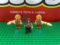 LEGO AQUAMAN + 2 ATLANTEAN GUARD minifigures DC COMICS SUPERHEROES set 76085