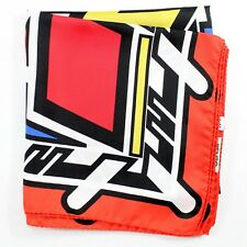 100% New - Kenzo Silk Scarf Red Yellow Blue Logo Large Square GENUINE 181191