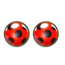 Cute Ladybug Ear Stud Earrings Animal Circle Earrings Women Party Gift Jewe DOL