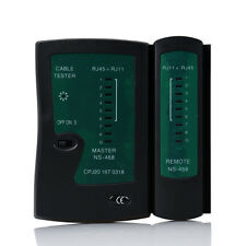 Network RJ-11 & RJ-45 Lan Cable Tester Cat 5 / Cat 5e / Cat 6 / UTP cables HOT