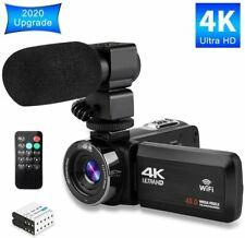 Video Camera 4K Camcorder Ultra HD Vlogging Camera for YouTube,48MP 16X Digital