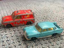 Husky Models Ford Thames Van Red Mercedes Benz 220 Vintage Corgi Juniors Lot 60s