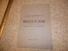 1913.Catalogue vente Mobilier de salon LOuis XV avec tapisserie..