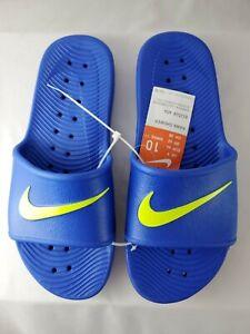 Nike Kawa Shower Slides Men sz. 10 Sandals Slippers Flip Flops blue yellow Fr Sh