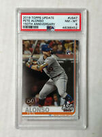 PETE ALONSO 2019 Topps Update 150 YEARS GOLD FOIL STAMP RC! PSA NM-MT 8! #US47!