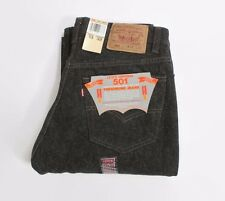 VTG 80s NEW Deadstock 1987 LEVI 501 Made In USA BLACK Denim Jeans 32x33 32 NWT