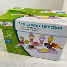 NCT Wooden 21 Pieces Ice Cream Selection Pretend Play Set Kids Children 3+