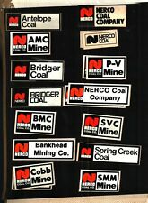 LOT OF 14 DIFFERENT NICE NERCO COAL CO. COAL MINING STICKERS # 998