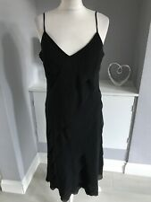 Marks & Spencer Black Tiered Strappy Slip Dress Size 16