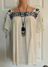 NWT-LUCKY BRAND MEXICAN INSPIRED BoHo CHIC HIPPIE/PEASANT TOP-PLUS Sz 1X