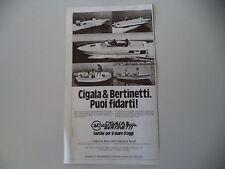 advertising Pubblicità 1982 CIGALA E BERTINETTI