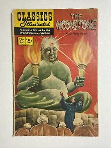Classics illustrated the Moonstone #30 HRN 165 1962 comic scarcer cover