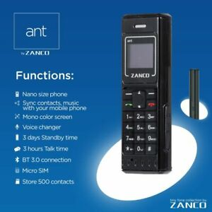New Mini Small GSM Mobile Phone Dialer ZANCO CellPhone ant phone bluetooth cell
