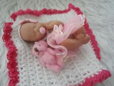 Polymer Clay Miniature Full Bodied Ooak Baby, Summer