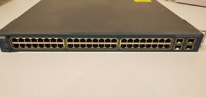 Cisco 3560G 48-port POE + 4 sfp gigabit enterprise managed ethernet switch
