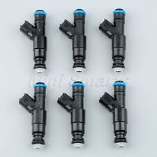 6Pc Upgrade Fuel Injectors 4-Hole For 99-04 03 4.0L Jeep Cherokee 0280155784 GAW