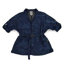 G STAR RAW Damen Jacke S 36 RADAR XL COAT WMN Camouflage blau Mantel wie NEU