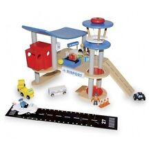Aéroport en bois, garage en bois enfant, jeu de construction, jouet en bois**