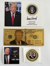 "1 President Donald Trump 4""x6""...on Card Stock...Photo Picture + 2 Decals + $100"