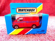 MATCHBOX  1981  MB 60  FORD  TRANSIT [MOTORSPORT]  MADE IN  MACAU  UNOPENED