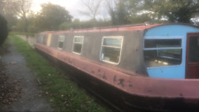 NARROWBOAT BARGE CANAL BOAT PROJECT 60 FOOT CRUISER STERN 1984