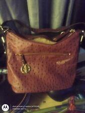 Giani Bernini,ostrich, handbag, purse,brand, material, fabric type, bag, pocket