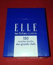 """Coffret ELLE les fiches-cuisine """" 150 recettes faciles des grands chefs """""""