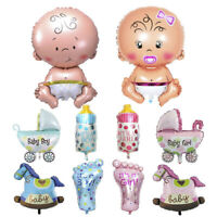 Baby Girl & Boy Shower Foil Christening Balloons Decoration Party Supply 5Pcs
